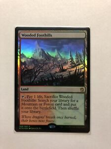 KHANS OF TARKIR NM//M Magic:The Gathering **WOODED FOOTHILLS** MTG