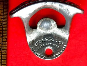 Vintage-Drink-Coca-Cola-Starr-X-Old-1925-Cast-Iron-Wall-Mounted-Bottle-Opener
