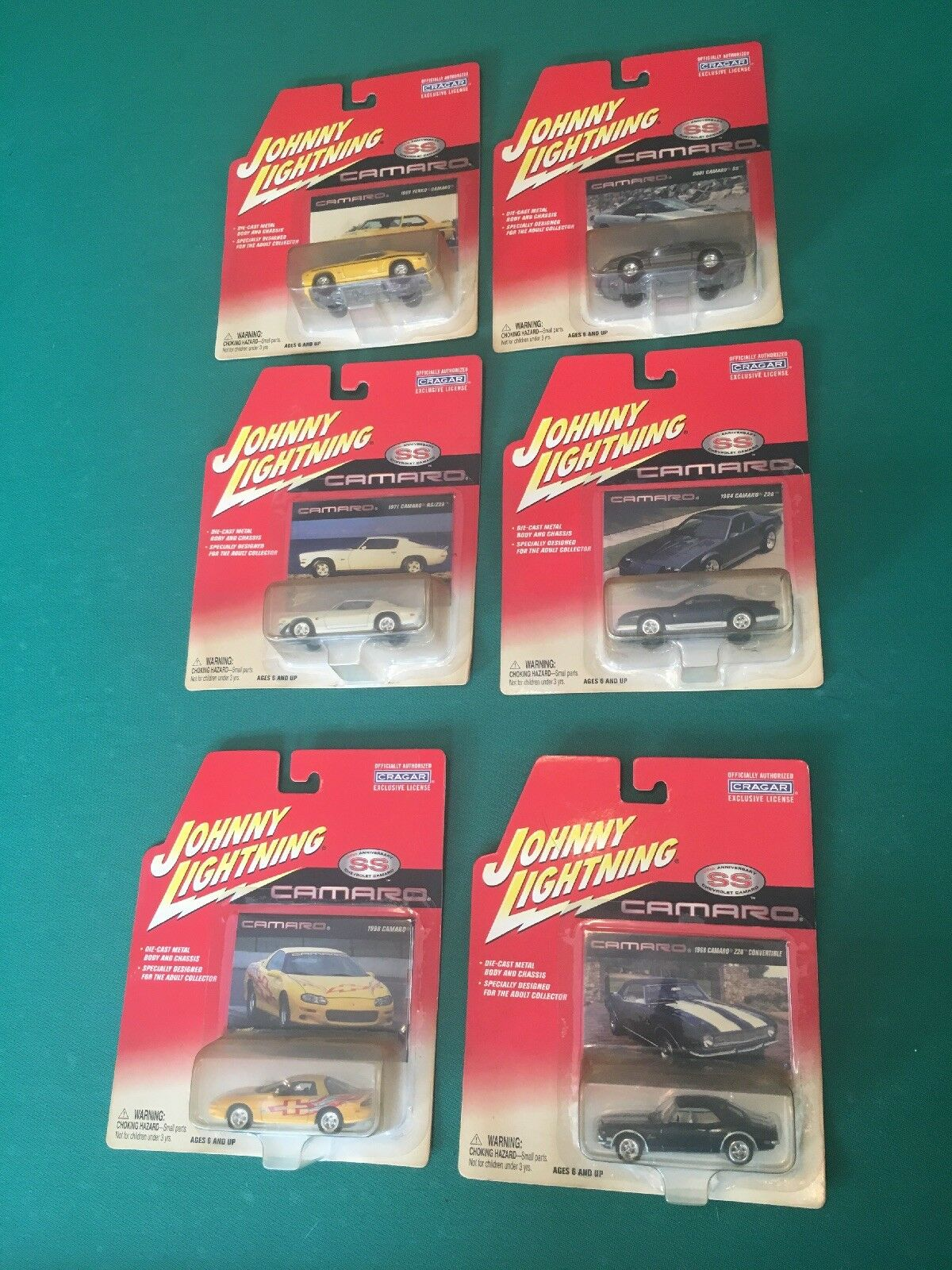 2003 JOHNNY LIGHTNING CAMARO 35TH ANNIVersary  1 64 (full Set Of 6)