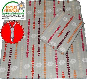 2tlg bettw sche seersucker baumwolle 135x200 80x80cm b gelfrei grau rot pkt ebay. Black Bedroom Furniture Sets. Home Design Ideas