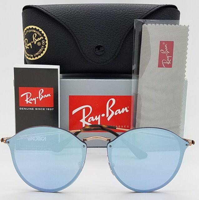 NEW Rayban Blaze Round sunglasses RB3574N 90351U Copper Violet 3574 purple  blue 2cd55ba14b