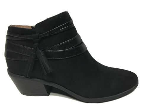 LifeStride Womens Paloma Black Fashion Boots Size