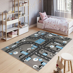Children-039-s-Rug-Road-Map-City-Town-Cars-Play-Rugs-Kid-039-s-Boys-Play-Toy-Nursery-Mat