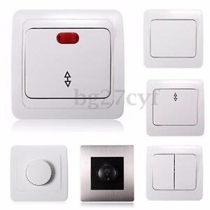 wall socket light lamp switch plate panel push button controller rotary dimmer ebay. Black Bedroom Furniture Sets. Home Design Ideas