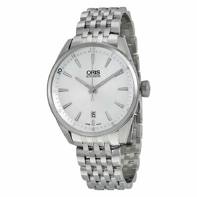 Oris 73377134031MB Men's Artix Date Silver Dial Stainless Steel Automatic Watch
