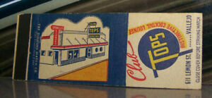 Vintage-Matchbook-Cover-A3-Vallejo-California-Club-Tops-Distinctive-Cocktail