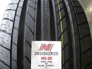 2 new 285 30zr20 inch nankang ns 20 noble sport tires 285 30 20 2853020 r20. Black Bedroom Furniture Sets. Home Design Ideas