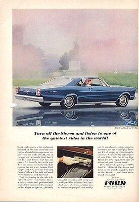 "1966 Ford  Fairlane GT Convertible Wizard Of Aah/'s-Original Print Ad 8.5 x 11/"""