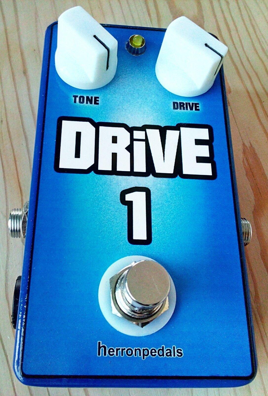 DRIVE 1 Medium gain Overdrive Clean Boost Handmade Guitar effects pedal