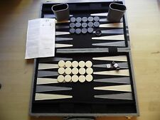 Large Backgammon Set Faux Leather Briefcase