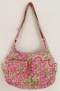 VERA-BRADLEY-Women-Petal-Pink-Retired-Purse-Shoulder-Bag-Pink-Green-Floral
