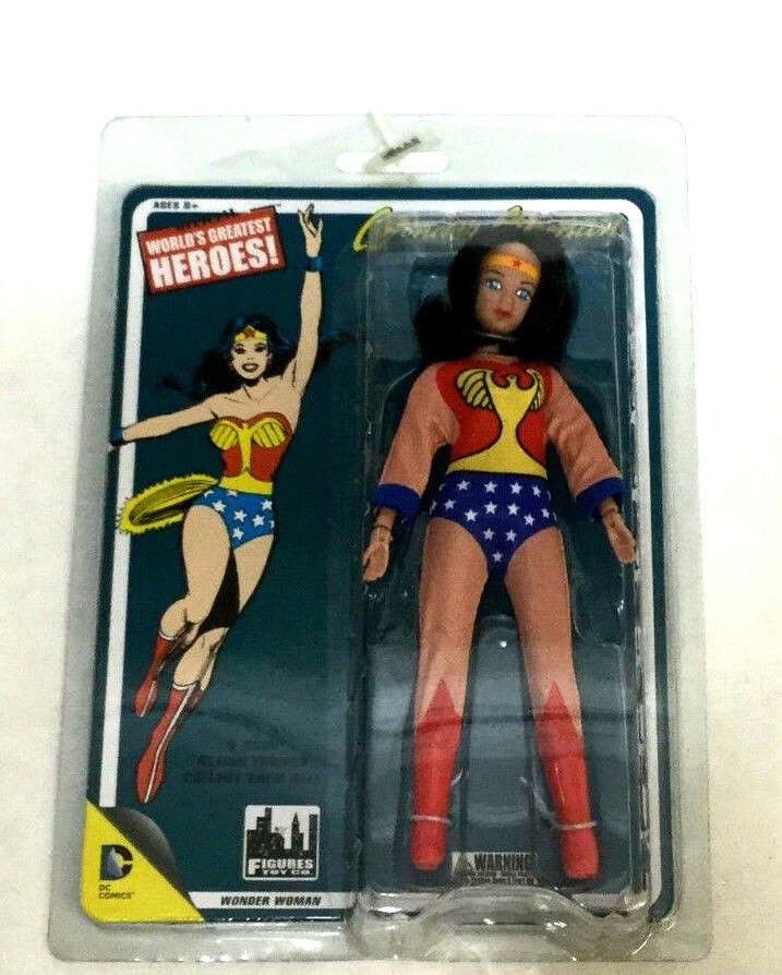 2010 Mattel Worlds Greatest Heroes Wonder Woman Figure DC Comics Mego Repro