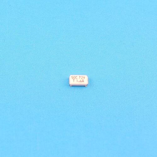 50Pcs SOC SMD SMT 1206 1.6A T1.6 Amp 72V Fuse