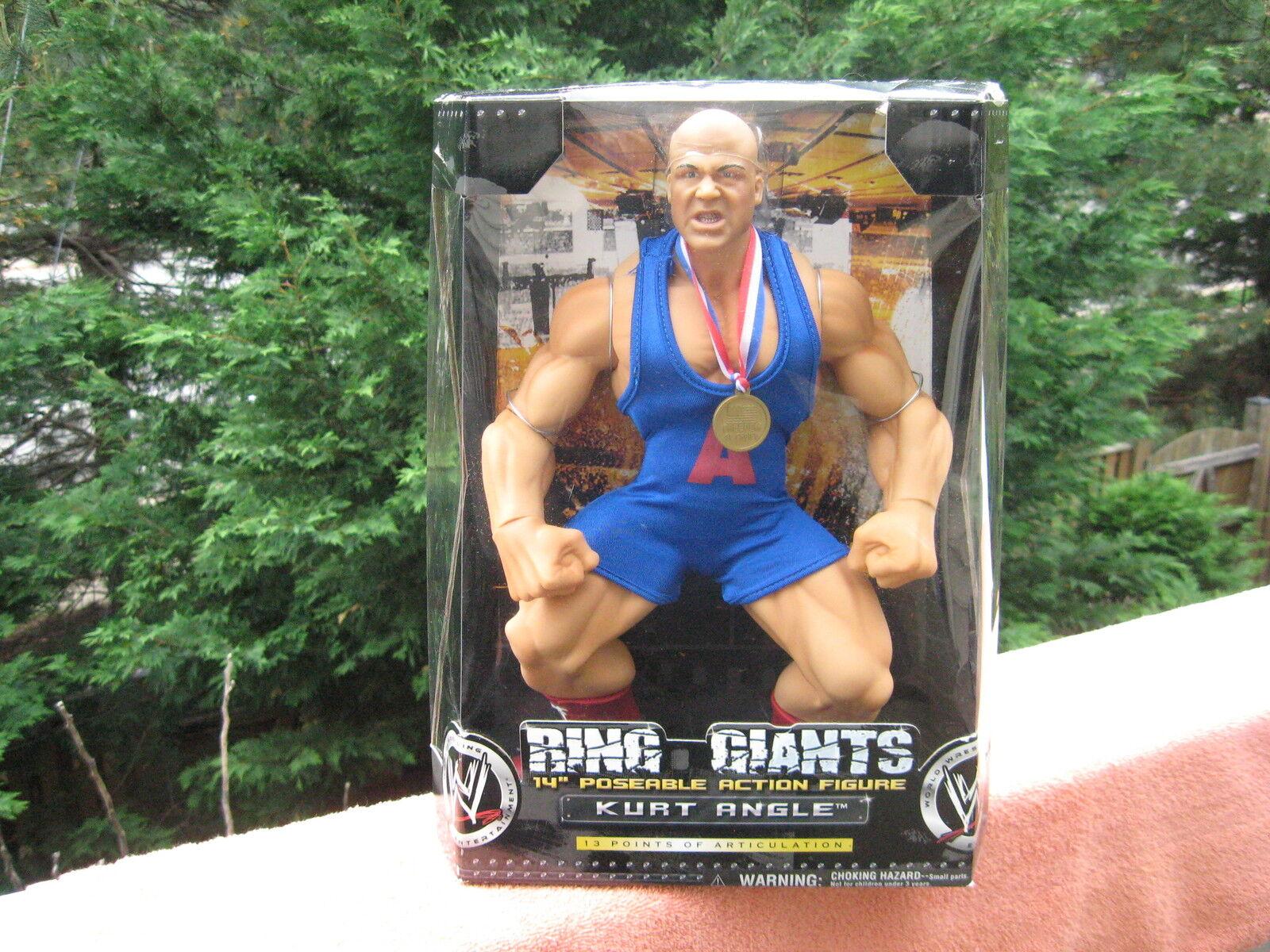 WWE Ring Giants Kurt Angle 14  Jakks Posable Action FigureNew Factory Sealed