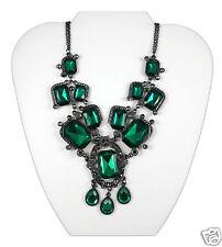 I.N.C. Green Emr Bib Necklace