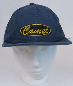 Vintage-Camel-Cigarettes-Logo-Baseball-Cap-Hat-Strapback-Adjustable-Blue-Yellow