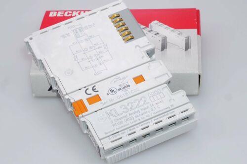 RTD NEU BECKHOFF KL3222 2-Kanal-Eingangsklemme PT100 4-Lei. f hochpr
