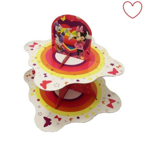 Disney Minnie Mouse Cupcake Stand Display Snack Enfants Filles Fête Anniversaire