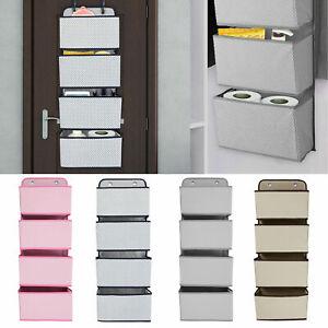 4-Tier-Over-The-Door-Hanging-Hooks-Organiser-Storage-Pockets-Wardrobe-Unit-Shoes
