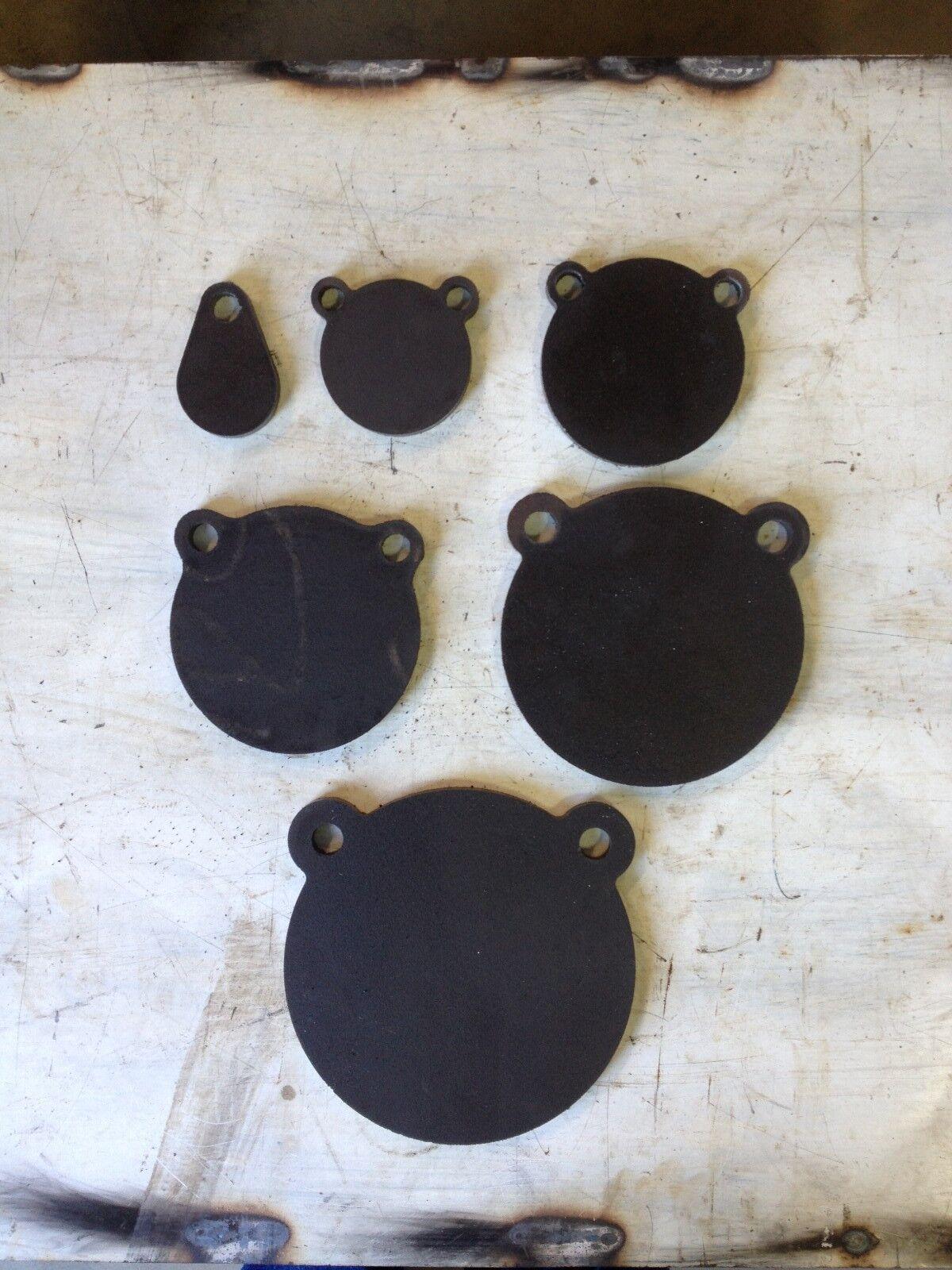 Los objetivos de disparo de acero AR500, 1 2  X 2 , 3 , 4 , 5 , 6 , 7  (6 Piezas Set) AR500