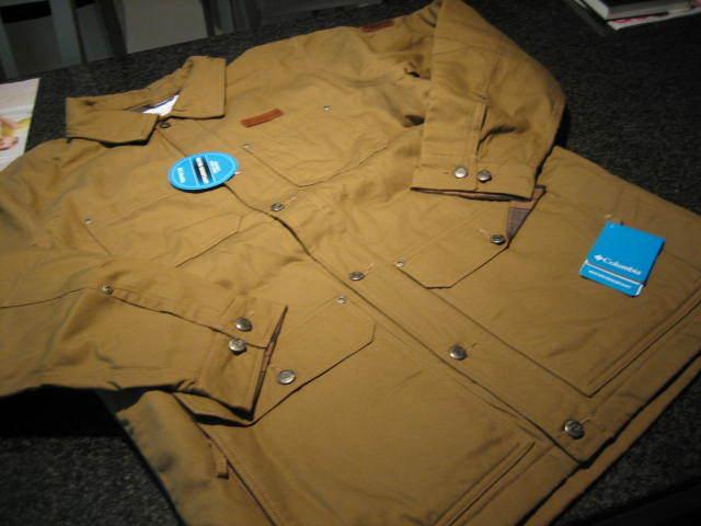 NWT -  Herren COLUMBIA Khaki BEACON STONE Plaid Lined OMNI-SHIELD Barn Coat (4X)
