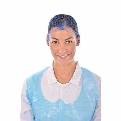 pour l/'industrie alimentaire utilisation X 50 Jetable Bleu Résille Filet à cheveux Métal rogné