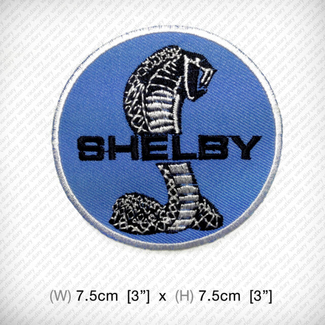 Shelby Cobra EMBROIDERED IRON ON PATCH American sports car FORD Roadster Racing