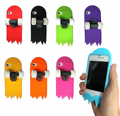 NEW Retro Skateboard Skater Silicone 3D Case Cover Stand For iPhone 4 4s 5 5c SE