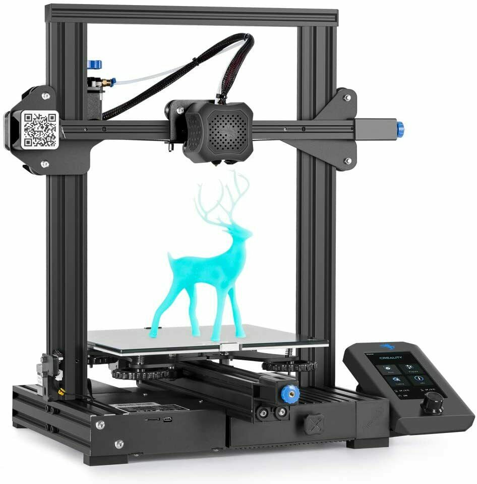 Creality Ender-3 V2 3D Printer, Official Comgrow Upgrade Printers With Silent