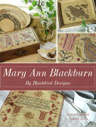 Loose Feathers Mary Ann Blackburn Sampler Blackbird Designs Cross Stitch Pattern