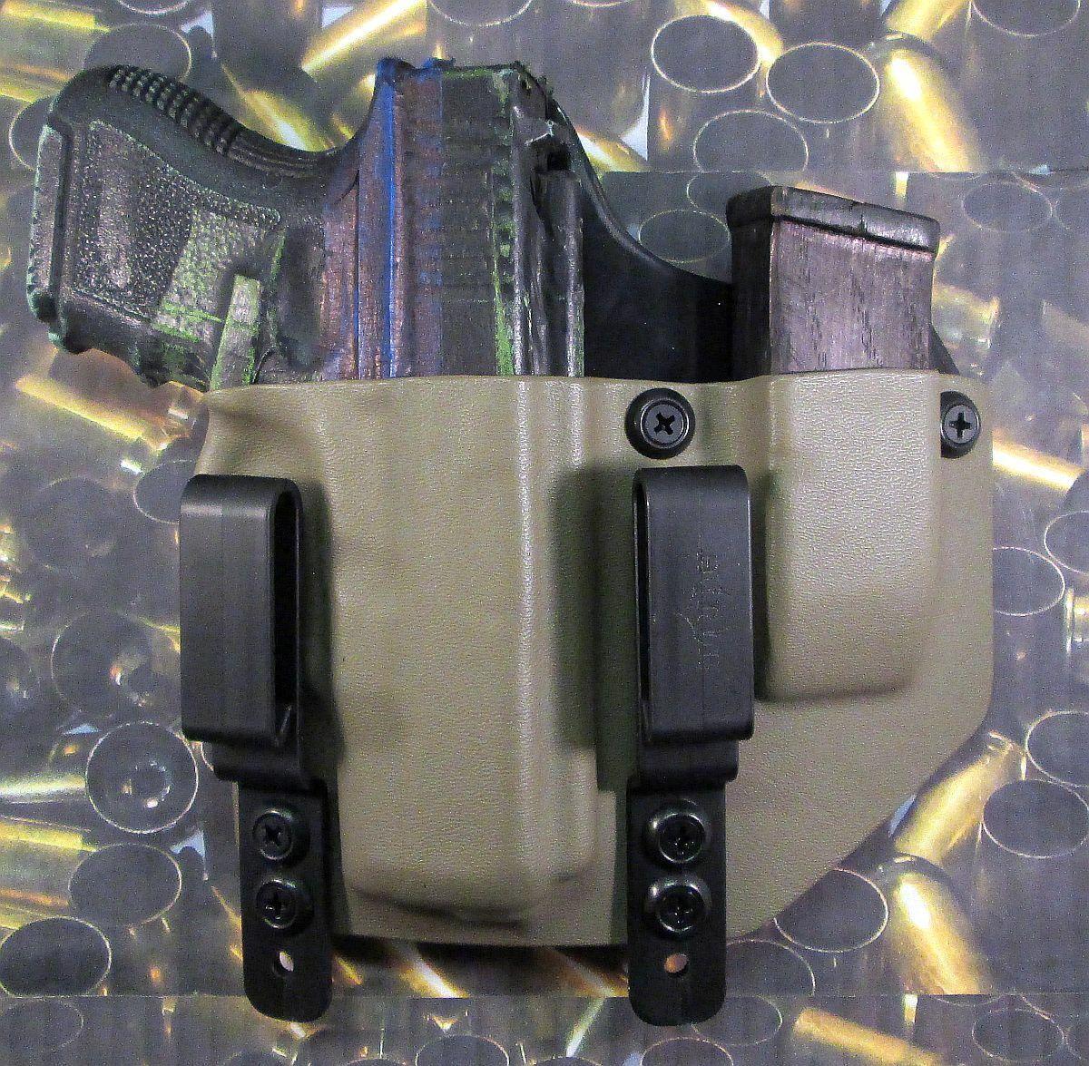 Hunt listo Fundas  Glock 26 27 33 FDE KYDEX dentro de la cintura Funda W Extra Mag portador