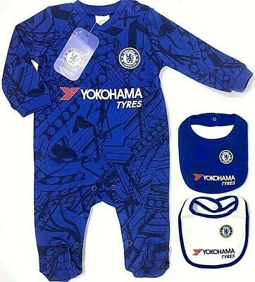 Chelsea FC 2019 Baby Kinder Schlafanzug Strampelanzug Körper Strampler 0-18