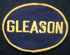 GLEASON-EMBROIDERED-SEW-ON-ONLY-PATCH-ADVERTISING-UNIFORM-JACKET-4-034-x-2-7-8-034