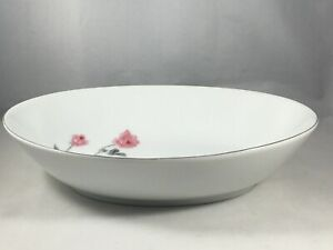 Arita-China-Japan-Pink-Rose-Flower-Oval-Serving-Bowl