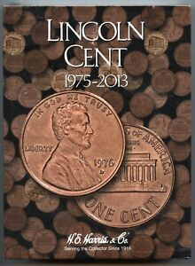 Coin-Folder-Lincoln-Cent-1975-to-2013-Penny-Set-Harris-Album-2674-Pennies