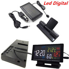 Led Digital Clock Car °C/°F Thermometer Hygrometer Voltage Weather Forecast 12V