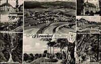 Bonndorf AK 1956 Schwarzwald Mehrbildkarte Panorama Rathaus Luftbild Schlucht