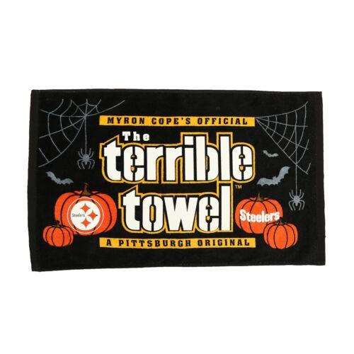 2017 Pittsburgh Steelers Halloween Glow In The Dark Terrible Towel *NEW*