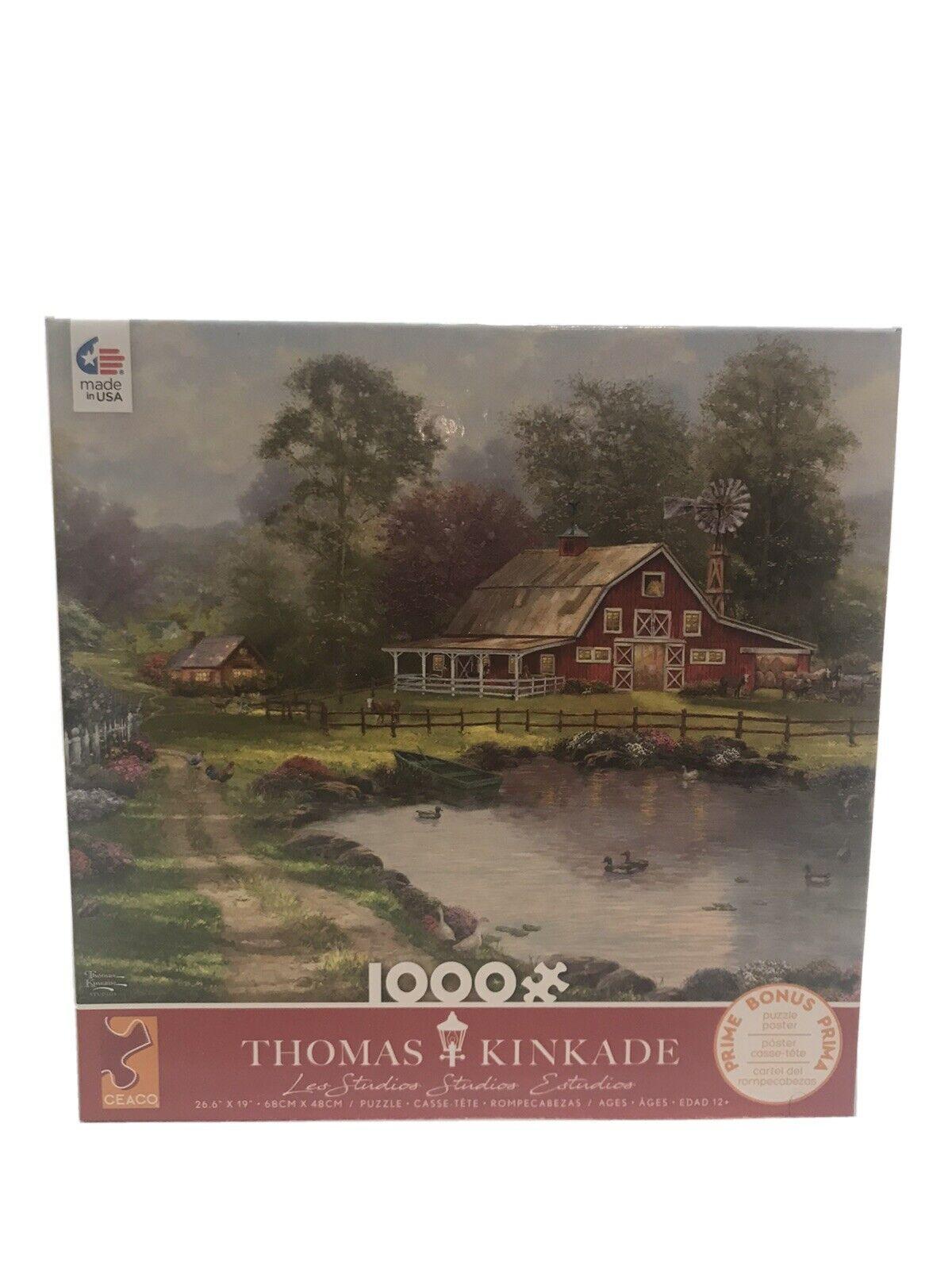 Thomas Kinkade Ceaco 1000 piece puzzle Red Barn Retreat