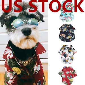 Dog-Hawaiian-T-Shirt-Shirt-Pets-Cat-Small-Dog-Clothes-Bulldog-Costumes-Apparel