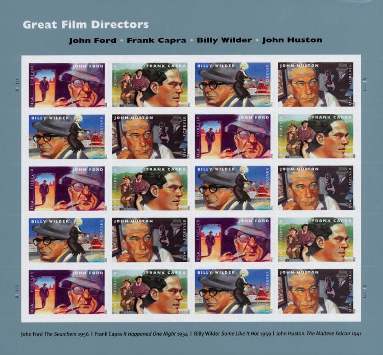 2012 45c Great Film Directors, Sheet of 20 Scott 4668-7