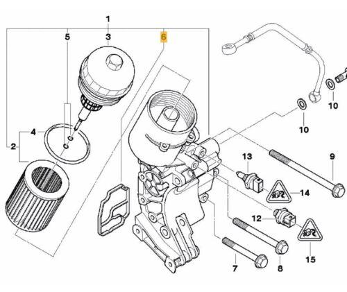 X3 Z3 FEBI BILSTEIN 100513 X5 7 Series Oil Filter Housing Seal  BMW 3 5