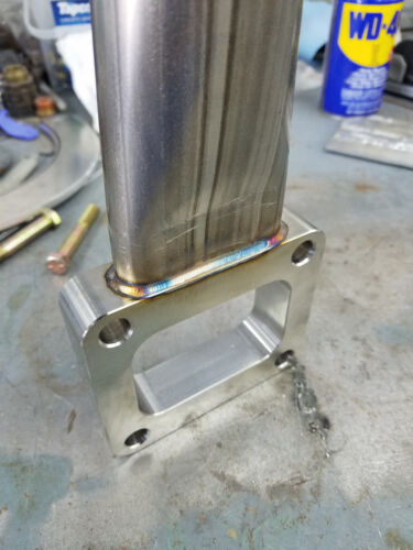 WELDED T-3 Divided Stainless steel waste gate spacer plate with hardware USA!!!