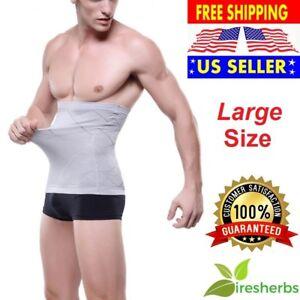 MENS-BODY-EXTREME-SLIM-SLIMMING-SHAPER-WAIST-GIRDLE-TRAINER-BELT-CINCHER-LARGE