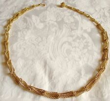 VTG Interlocking Chain Link Ball  Hook Belt Necklace Adjustable S M L Gold Tone