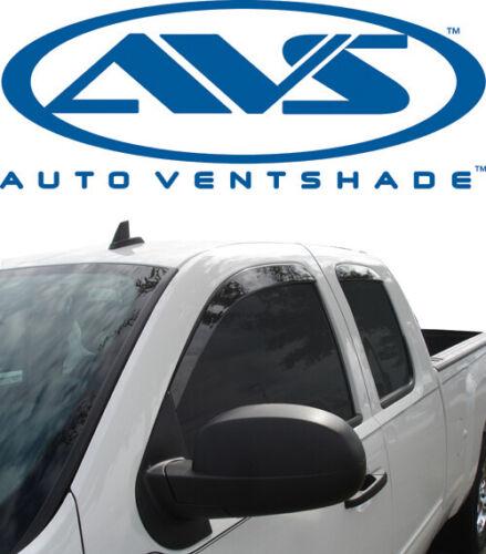 AVS 894024 Low-Profile Ventvisor 4-Piece Smoke 2007-2014 Chevy Silverado Ext Cab