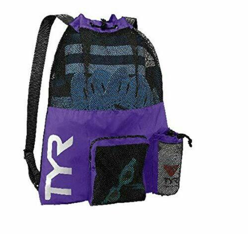 Mesh Mummy TYR Big Mesh Mummy Bag Purple Large Mesh Swimming Bags