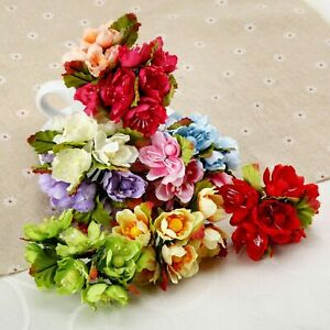 72pcs Heads Artificial Fake Rose Flowers Plant Flowers Home Party Decor