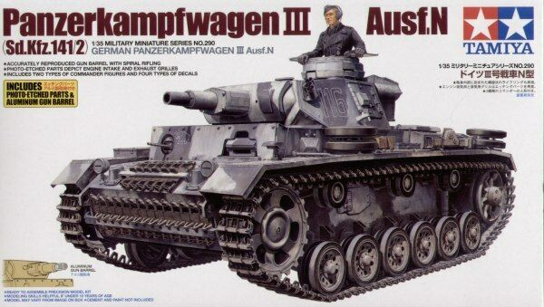 Tamiya 1 35 German Pz.kpfw.III Ausf.N Plastic Model Kit