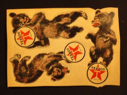 VTG 1930/'S TEXACO BEAR DECALS FOR INSULATED MOTOR OIL THUBAN /& MARFAK